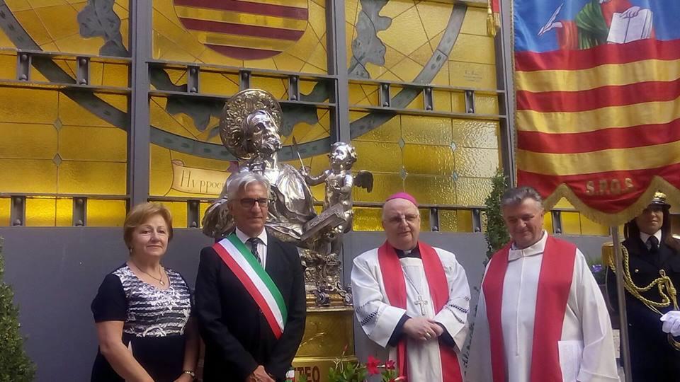 La Statua di San Matteo il 18 settembre arriverà in Comune