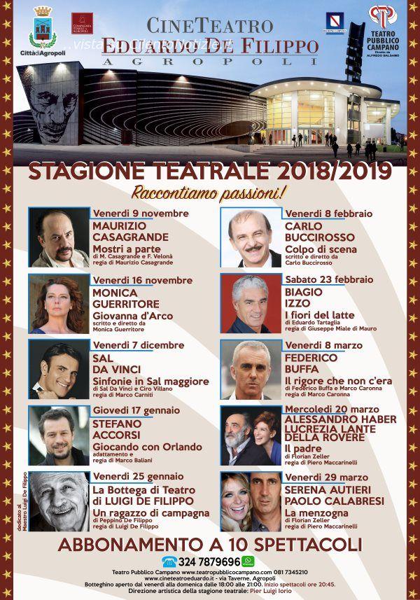 Agropoli: presentato il cartellone del Teatro Eduardo De Filippo