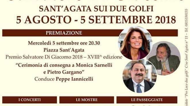 Sant'Agata dei due Golfi ospita il Premio Salvatore Di Giacomo