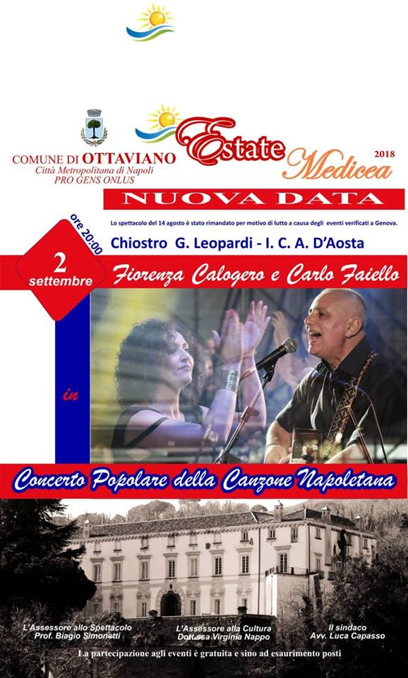 Ottaviano: Oggi concerto di musica popolare
