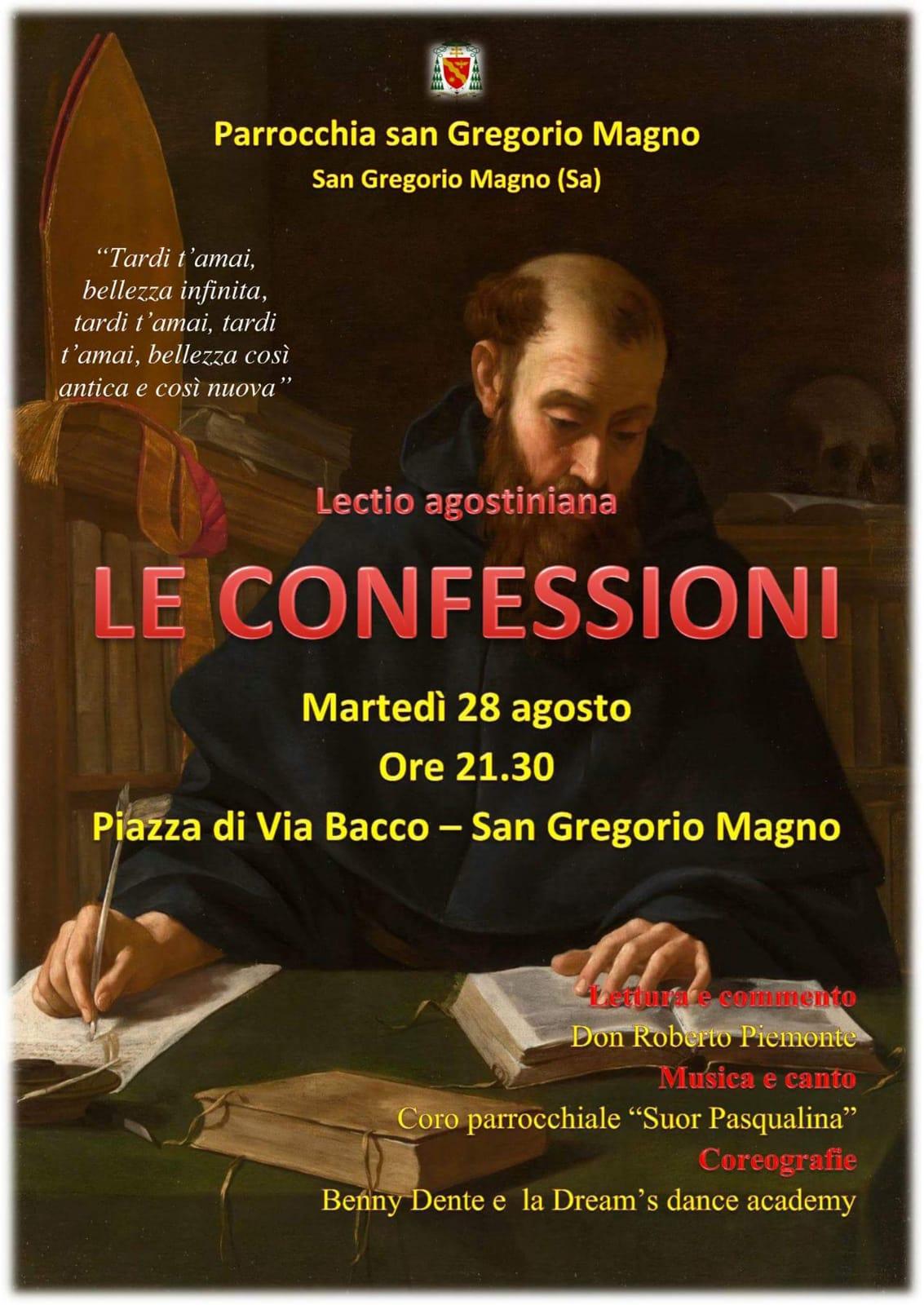 """San Gregorio Magno: successo per gli incontri de """"Le Confessioni"""" di Sant'Agostino"""