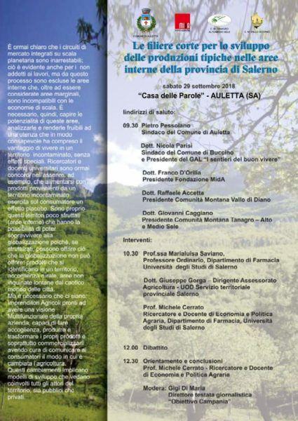 Auletta: Le filiere corte per lo sviluppo delle produzioni tipiche