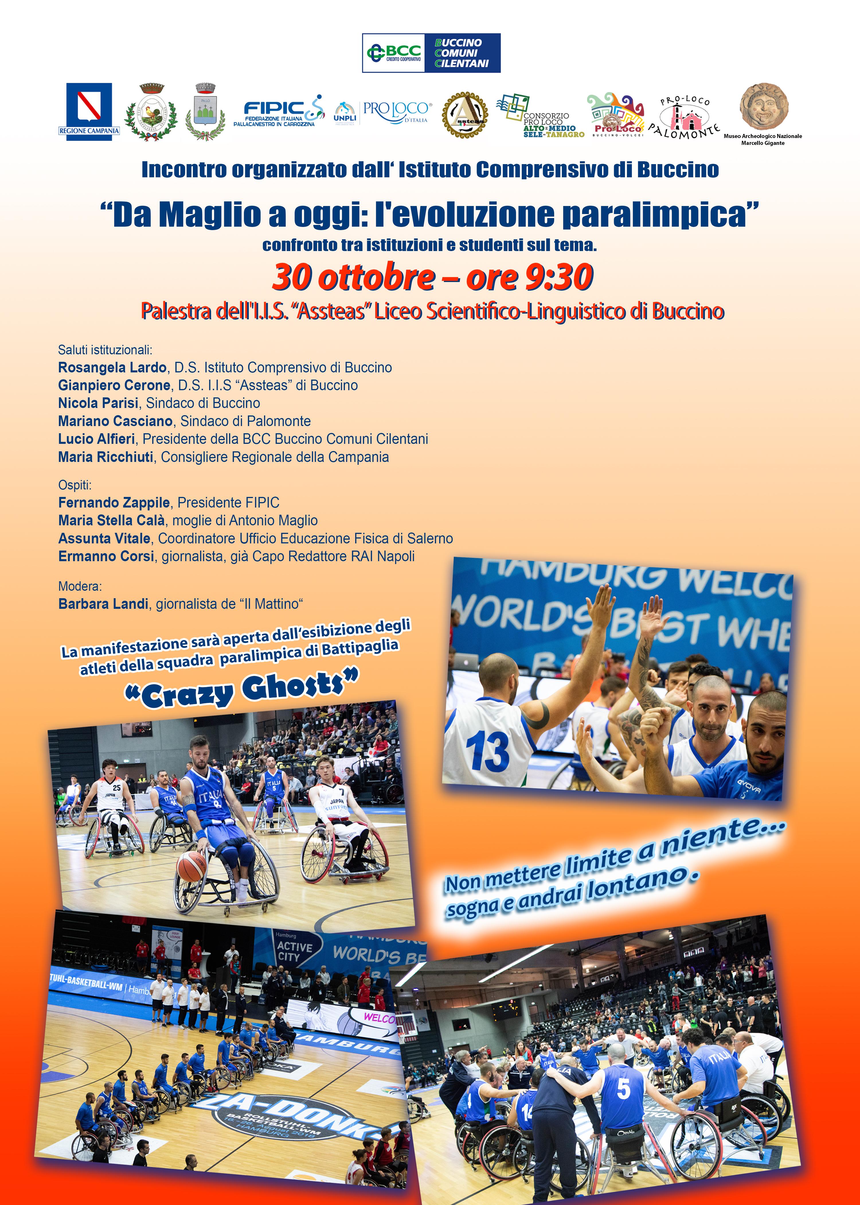"""Buccino presenta """"Da Maglio a oggi: l'evoluzione paralimpica"""""""