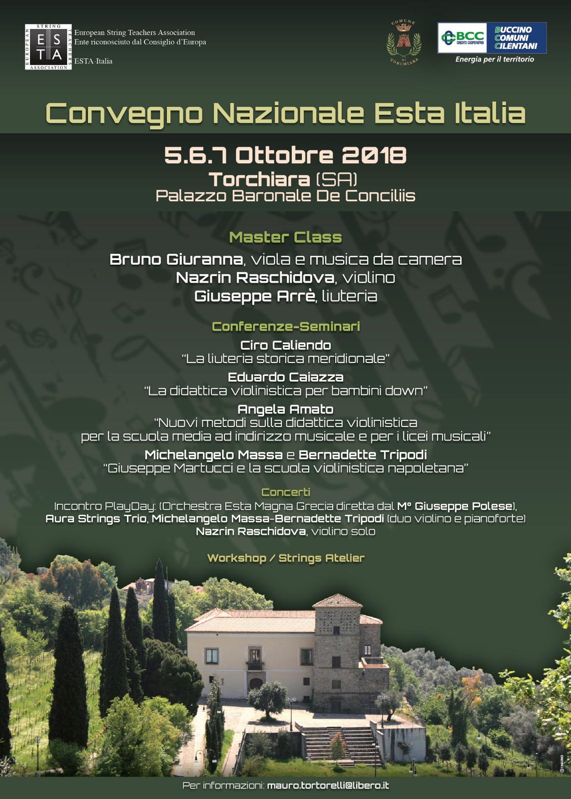 Torchiara ospita il primo convegno dedicato agli strumenti ad arco