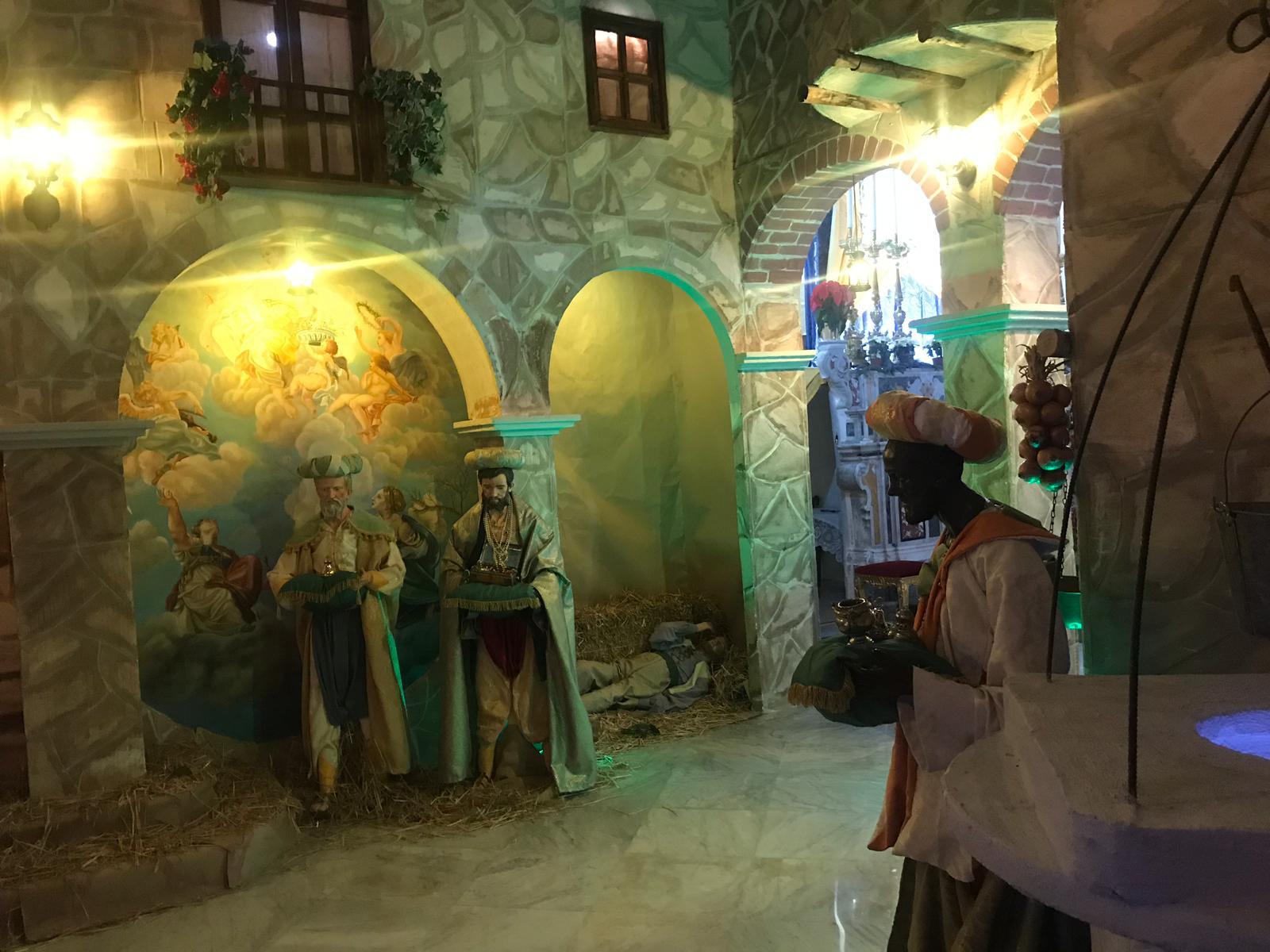 La chiesa di San Clemente ospita il presepe monumentale