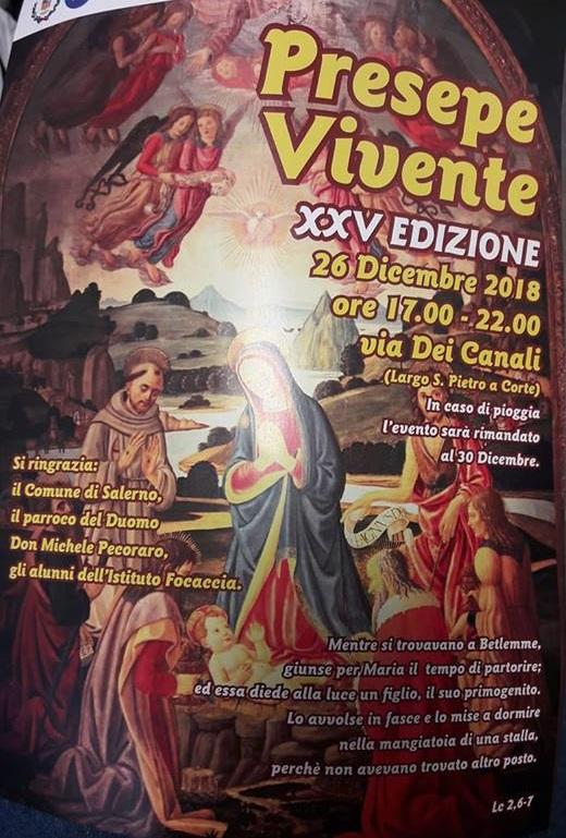 Salerno: Stasera in via De Canali torna il presepe vivente