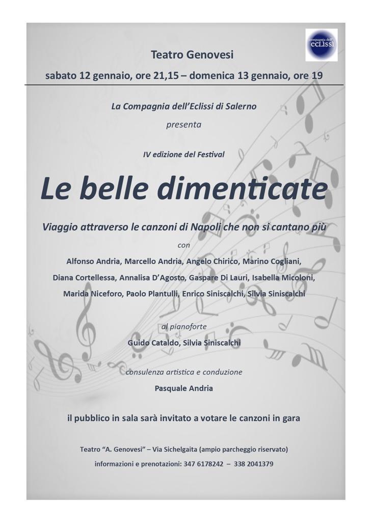 Il teatro Genovesi di Salerno ospita la tradizione poetica di Napoli