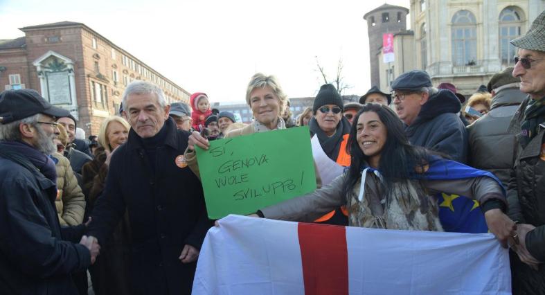Torino, Tav:  In piazza il partito dei 'prenditori'