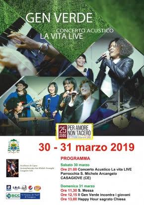 Casagiove, concerto del Gen Verde in memoria di Don Peppe Diana