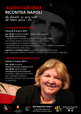 """Per la festa della donna arriva a Napoli la figlia di """"Che"""" Guevara"""
