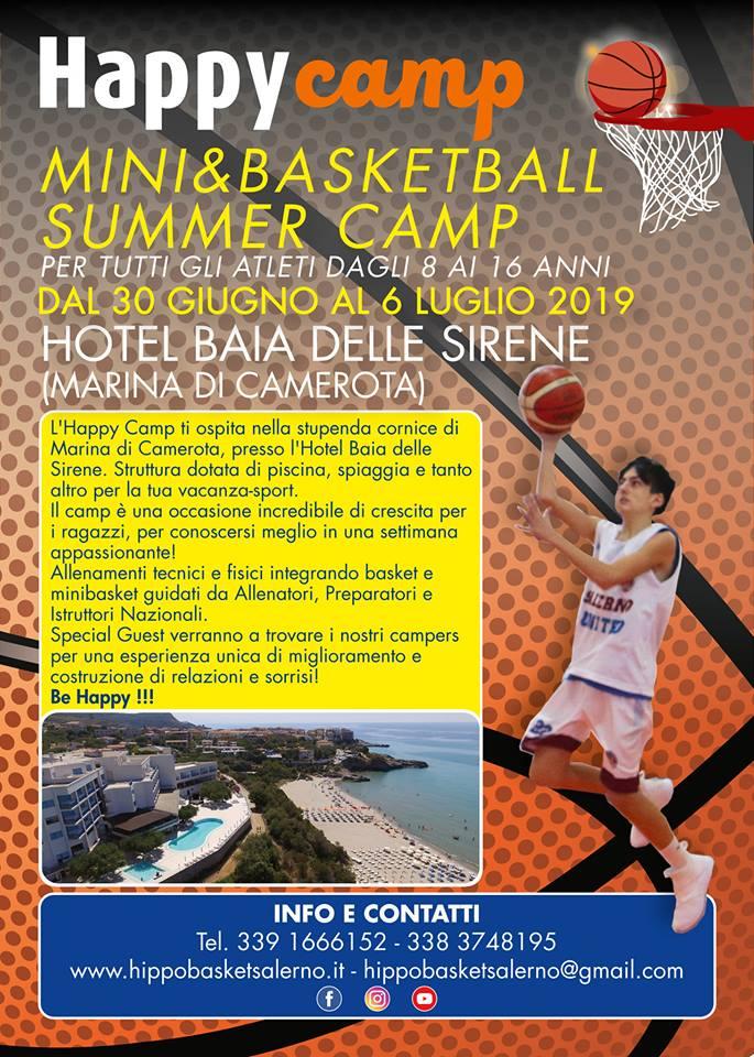 Marina di Camerota ospita l'Happy Camp della Hippo Basket