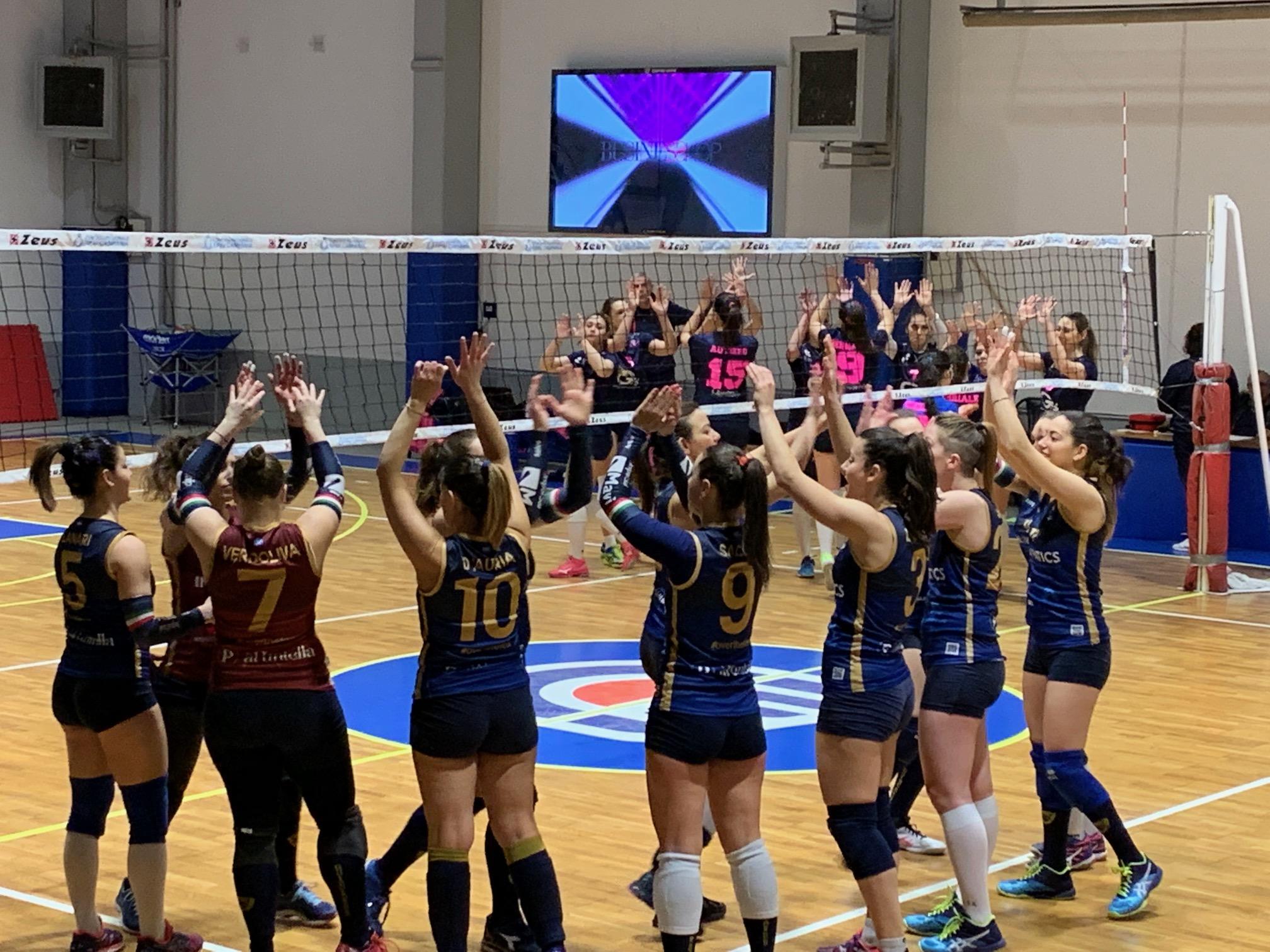 Dopo undici vittorie di fila si interrompe la striscia positiva della Salerno Guiscards Volley