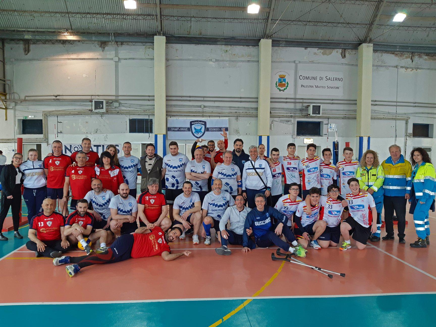 Solo un punto nella prima di campionato di Sitting Volley per la Salerno Guiscards