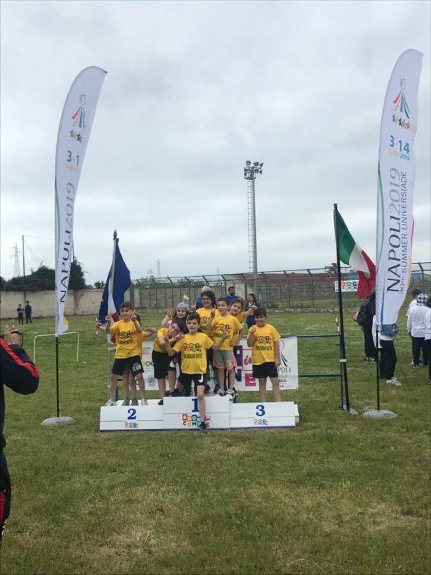 """La bandiera delle Universiadi alle finali di """"Sport in Comune"""""""