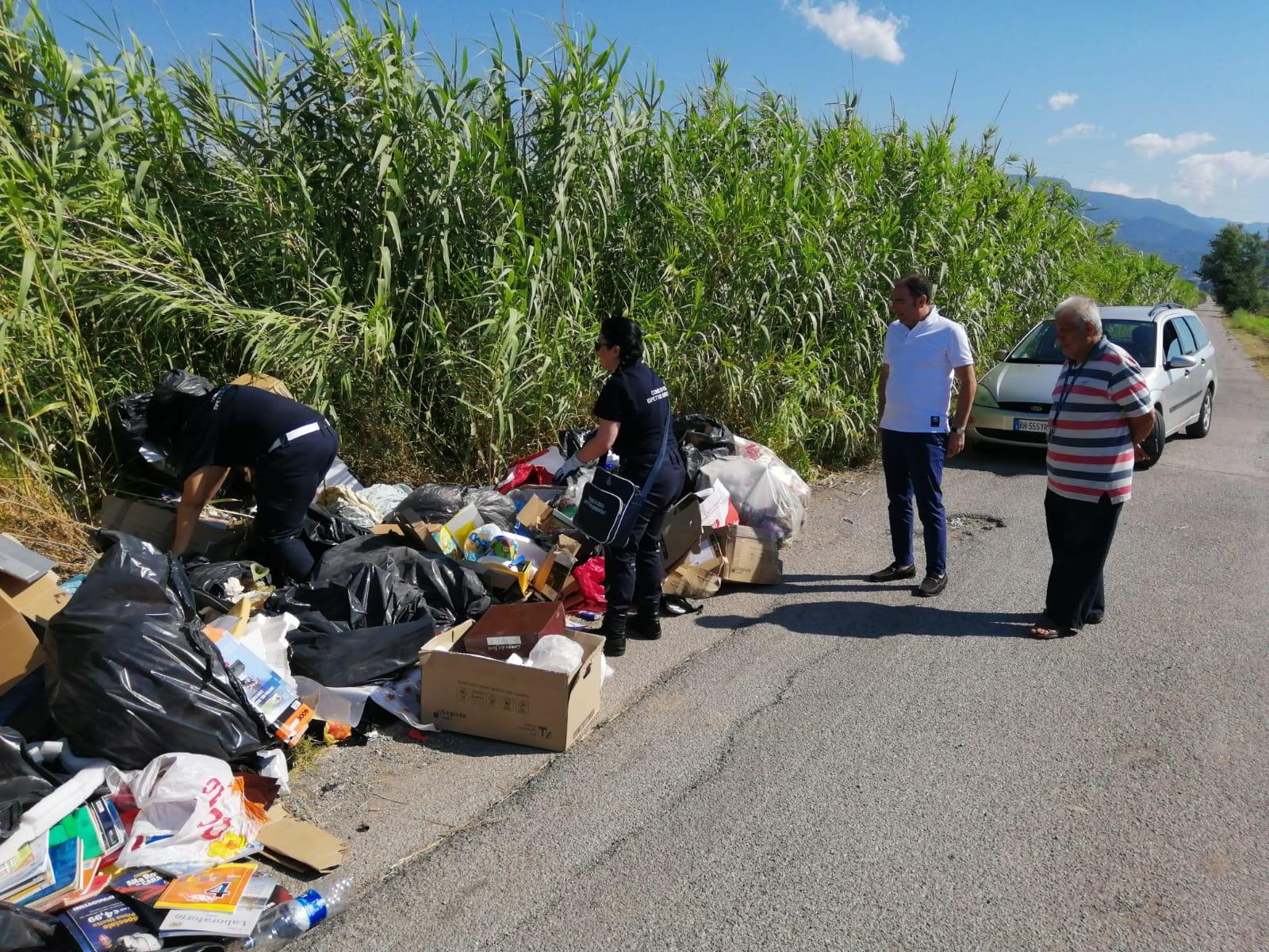 Abbandono rifiuti: controllo su tutto il territorio ebolitano