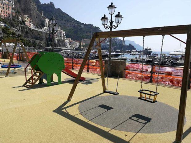 Ad Amalfi realizzato il parco giochi col panorama più bello del mondo