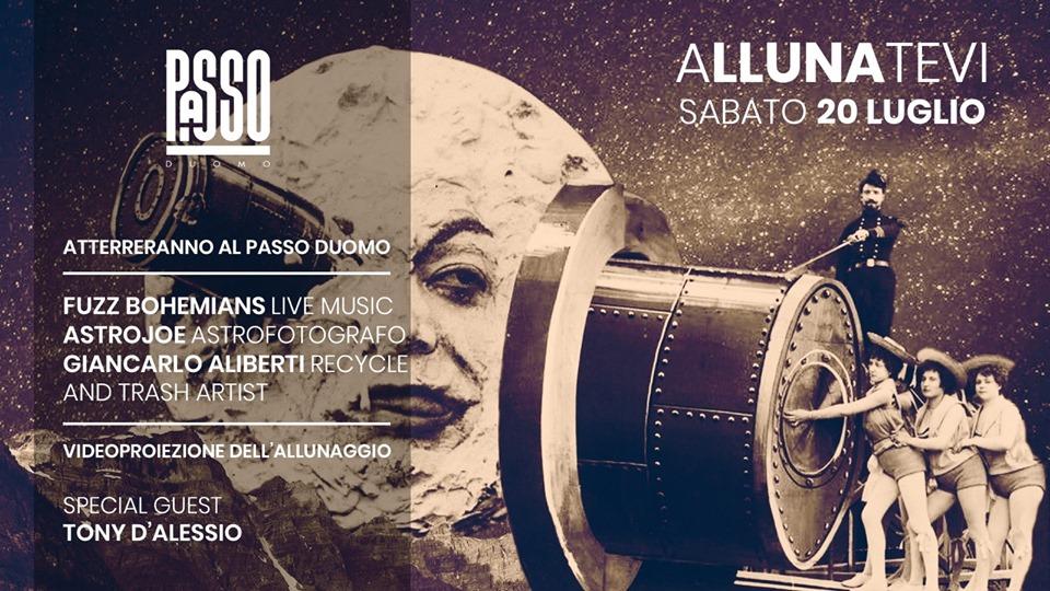 L'anniversario dello sbarco sulla Luna si festeggia al Passo Duomo