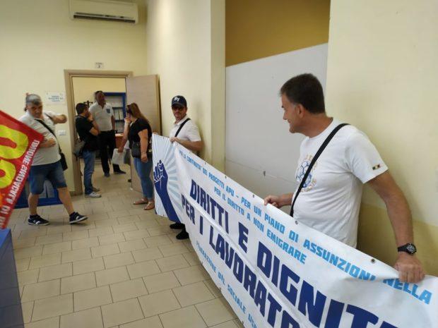 Campania, i precari Apu occupano i centri per l'impiego