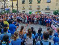 """Bacoli, 1500 in corteo per il sindaco Josi della Ragione: """"Non abbiamo paura"""""""