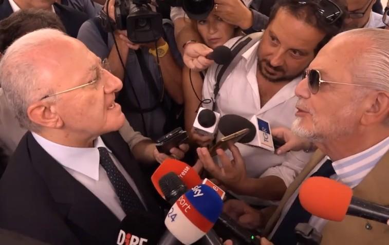 "Regionali, endorsement di De Laurentiis a urne aperte: ""Il Napoli sostiene De Luca"""