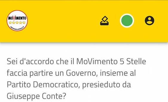 Voto su Rousseau, plebiscito per il governo M5s-Pd: sì al 79,3%