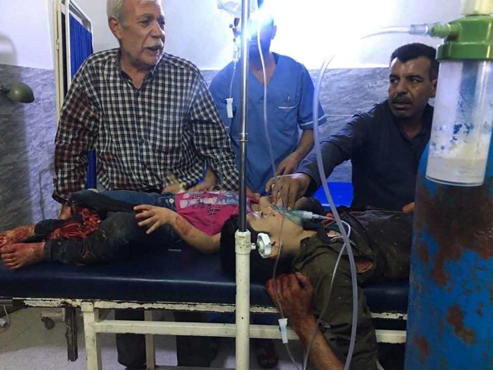 Le bombe turche sui bambini  curdi