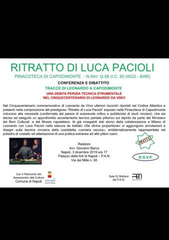 Napoli, ritratto di Luca Pacioli