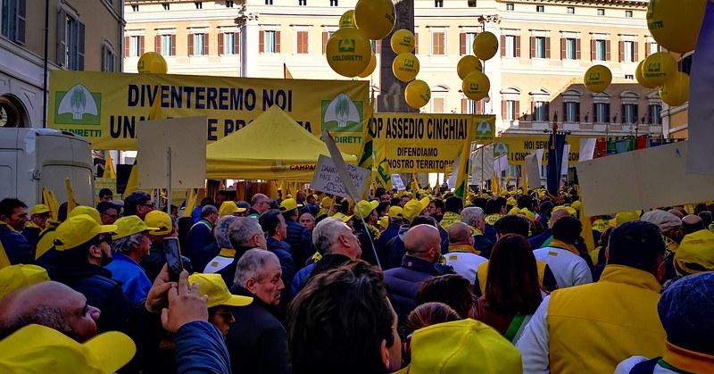 Roma, 2 mila agricoltori in piazza contro i cinghiali