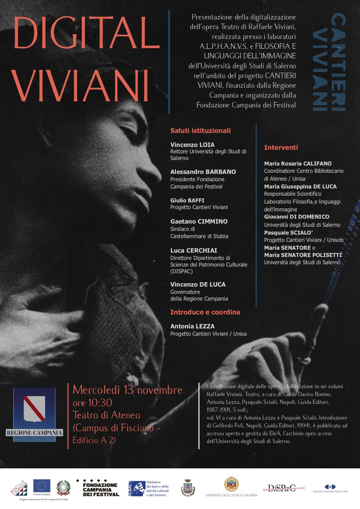 """L'opera """"Teatro"""" di Viviani digitalizzata"""
