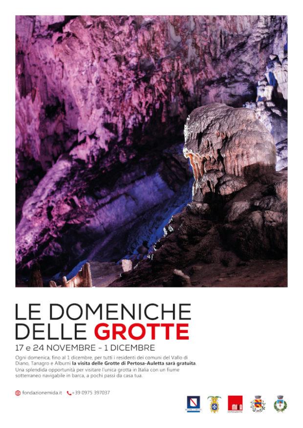 Visita alle Grotte gratis per i residenti del Vallo di Diano