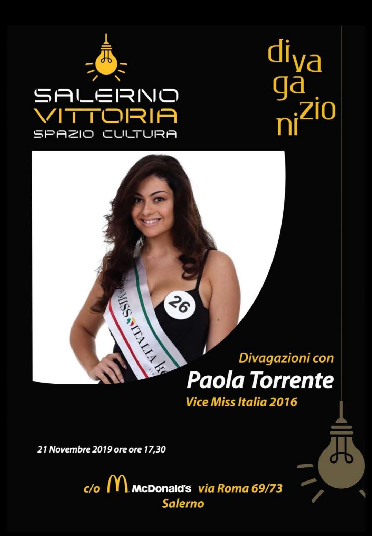 """""""Salerno Vittoria Spazio Cultura"""" ospita la miss curvy Paola Torrente"""