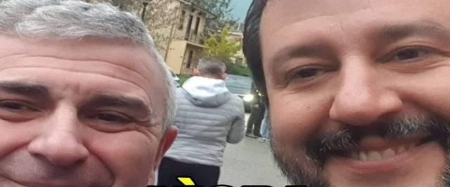 """Selfie con Salvini, licenziato delegato Cgil.  Potere al Popolo lo difende:""""Vittima del fascismo sui posti di lavoro"""""""