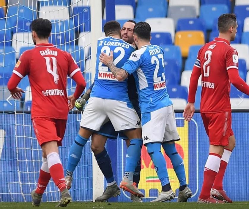 Insigne infallibile col Perugia, Napoli ok in Coppa