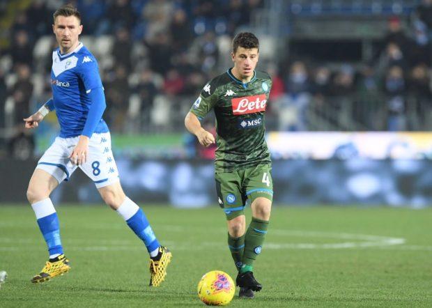 Al Napoli basta un tempo per espugnare Brescia