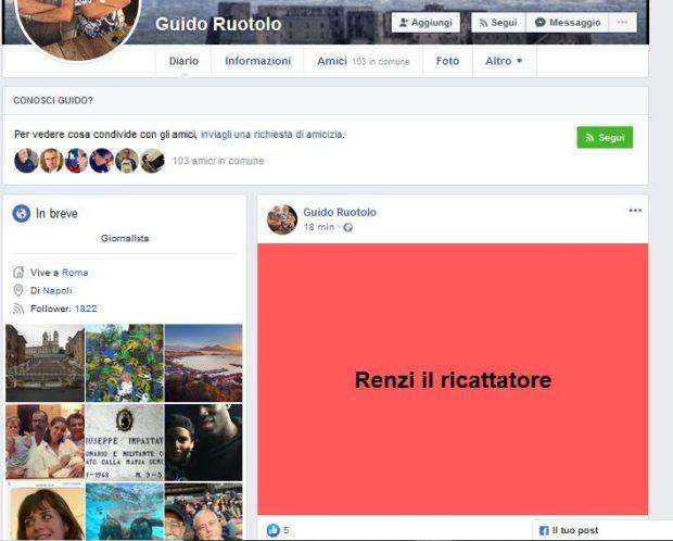 Napoli, il fratello di Ruotolo offende Renzi su Facebook e  scatena nuove proteste