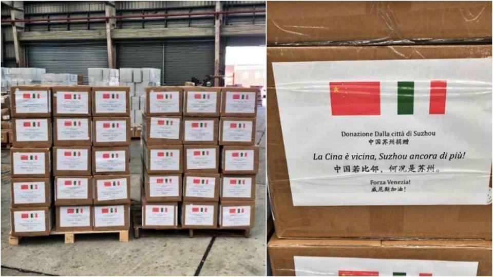 Coronavirus, altri aiuti concreti dalla Cina