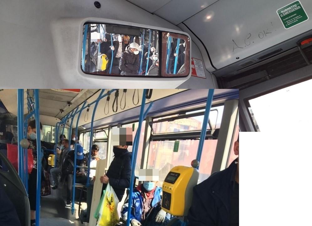 Coronavirus, a Napoli ancora assembramenti su bus Anm