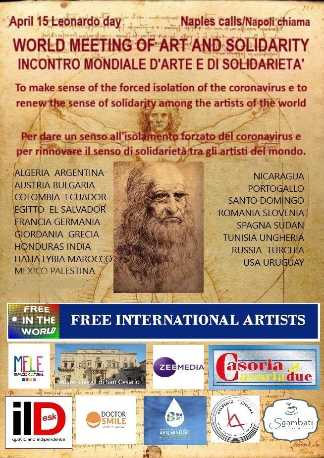 Coronavirus, la solidarietà del  Maestro Marino e degli artisti del mondo