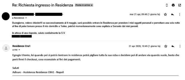 Residenze Adisurc, se l'assistenza scrive in un italiano zoppicante