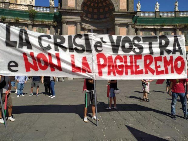 """Covid, 29 Gennaio è sciopero generale: """"La crisi è vostra e non la pagheremo"""""""