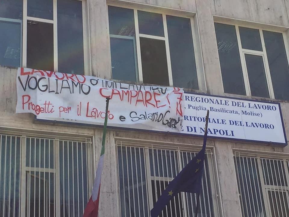 Napoli, collocamento occupato dai disoccupati