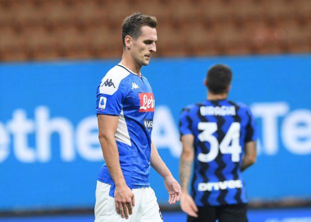 Napoli sprecone, l'Inter lo castiga