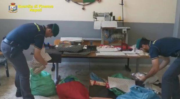 Napoli, Ottaviano: la guardia di finanza sequestra due fabbriche del falso