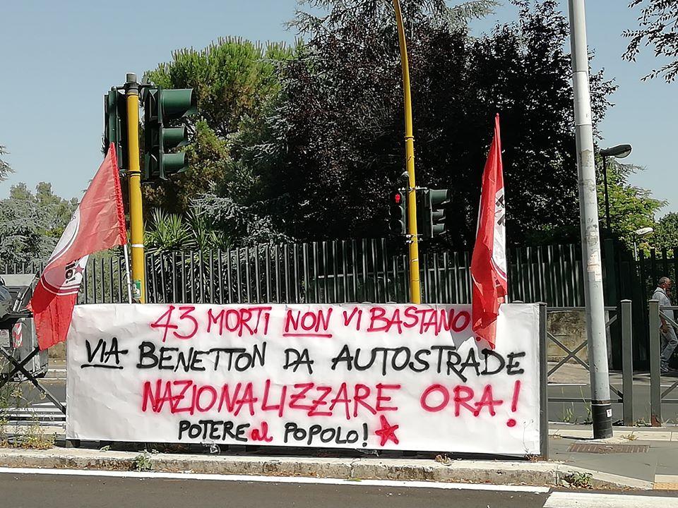 """Potere al Popolo: """"Nazionalizzare Autostrade, giustizia per le vittime del crollo Ponte Morandi"""