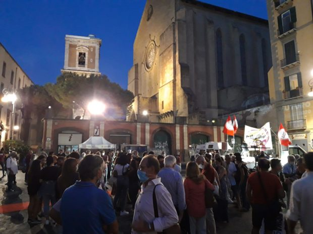 Napoli, elezioni regionali: in 500 alla sfilata di Potere al Popolo