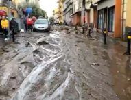 Campania flagellata dal maltempo, il fango invade Sarno e Monteforte Irpino