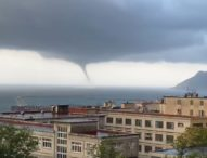 Tromba d'aria su Salerno, danni e paura