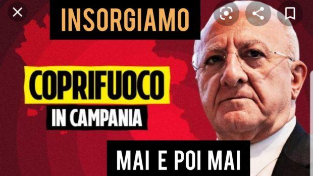 Coprifuoco, in Campania raffica di flash mob di protesta
