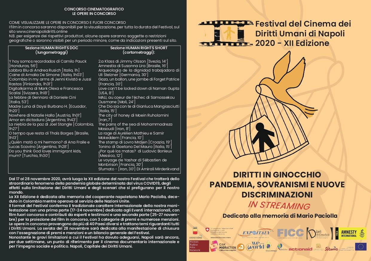 Napoli, festival del cinema dei diritti umani: grande partecipazione