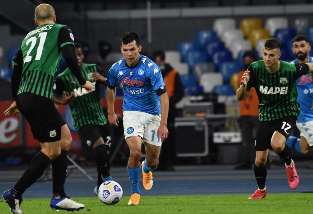 Napoli spento, il Sassuolo passa al San Paolo